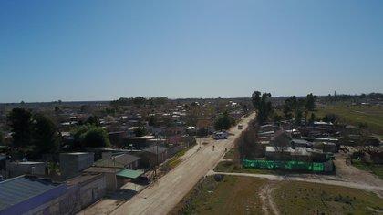 El barrio donde vive Cristina Castro, en Pedro Luro, al sur de Bahía Blanca