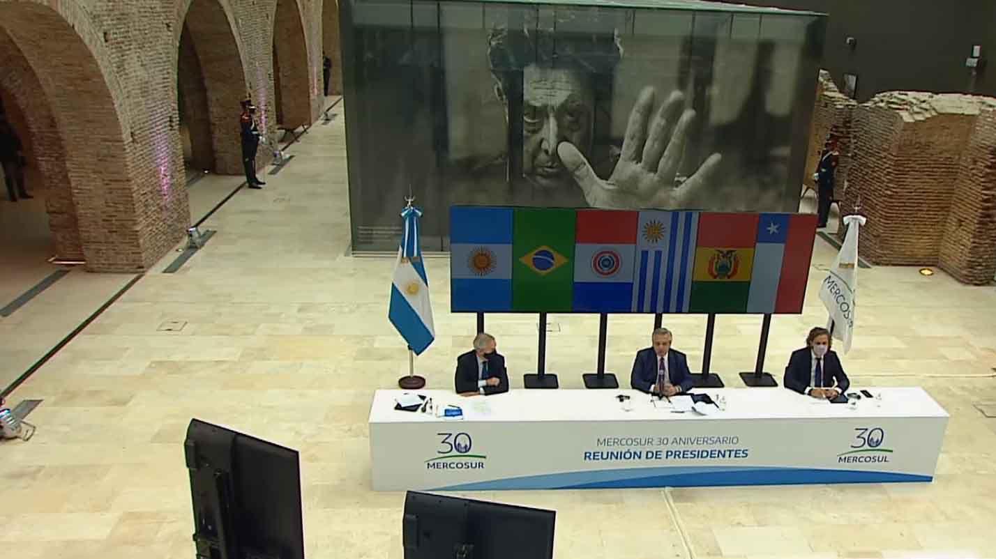 Alberto Fernández - Reunión de Jefes de Estado del Mercosur al cumplirse 30 años de su creación