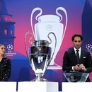 Soccer Football - Champions League - Round of 16 draw - Nyon, Switzerland - December 16, 2019 Hamit Altintop and Kelly Smith during the draw REUTERS/Denis Balibouse