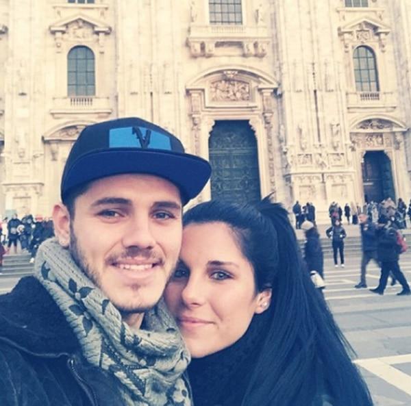 Mauro e Ivana Icardi en Milán