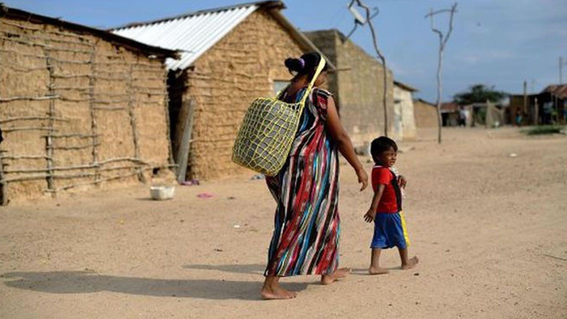 Población de indígenas Wayúu en Colombia. Foto: Agencia Anadolu.