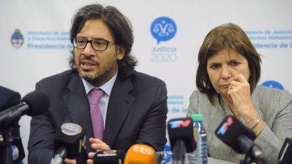 Germán Garavano y Patricia Bullrich (Télam)