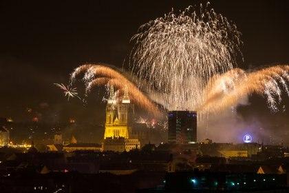 Así se celebró en Zagreb, Croacia (REUTERS/Antonio Bronic)