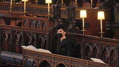 Catalina de Cambridge en la capilla de San Jorge (Reuters)