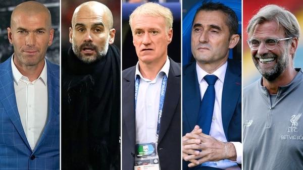 Zidane, Guardiola, Deschamps, Valverde, Klopp, entre los nominados al premio FIFA The Best 2018