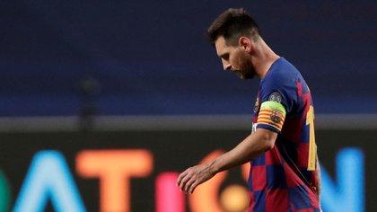El último partido de Messi en el Barcelona fue la derrota 8-2 ante el Bayern Múnich en la Champions League (Reuters)