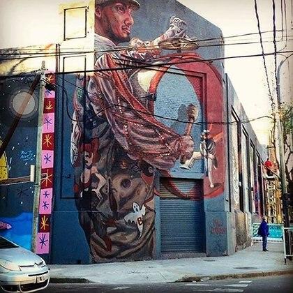 Una de las paredes de la artista en Buenos Aires