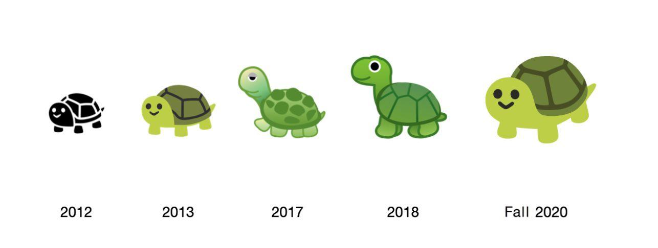 tortuga emoji 2020 (Emojipedia)