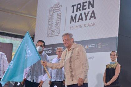 AMLO inauguró esta semana las obras del Tren Maya (Foto: Cortesía Presidencia)