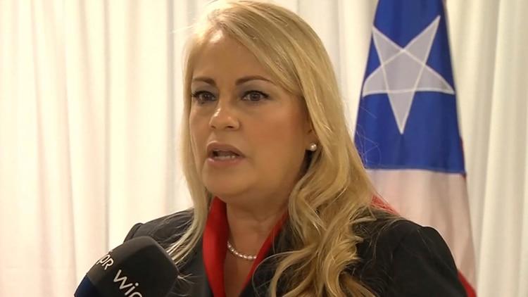 Wanda Vazquez asumió como gobernadora de Puerto Rico. (Courtesy WIPR NOTISEIS via REUTERS)