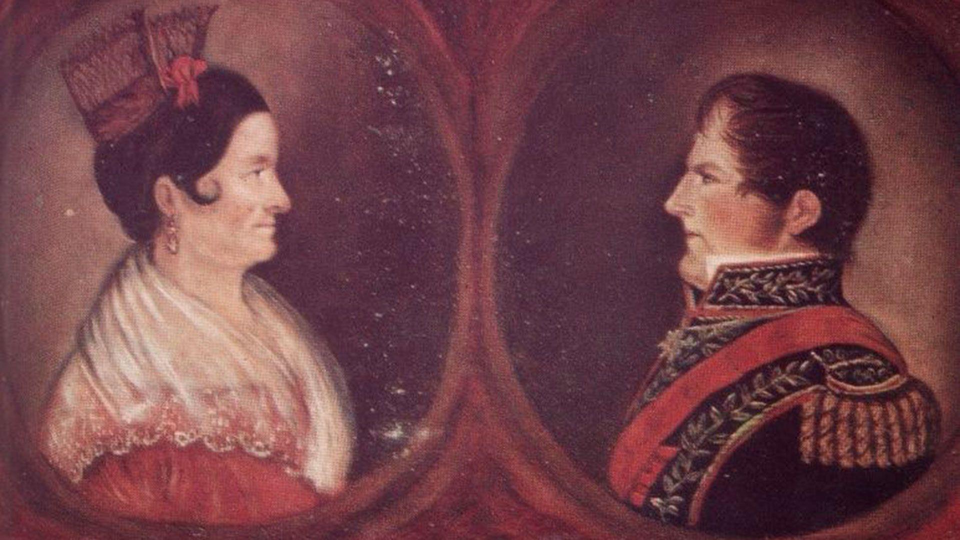 Encarnación Ezcurra y Juan Manuel de Rosas vivieron una gran historia de amor