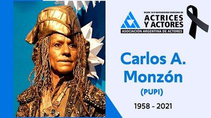 El homenaje de la Asociación Argentina de Actores (AAA)