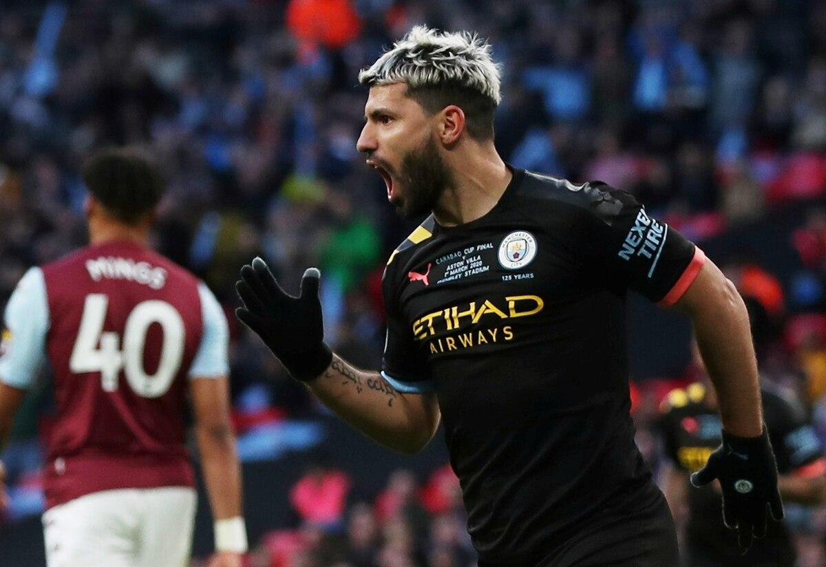 Con un gol de Agüero, Manchester City venció al Aston Villa y se coronó campeón de la Copa de la Liga - Infobae