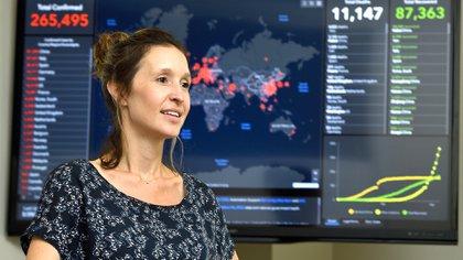 Lauren Gardner, una de las líderes del equipo (Crédito: Universidad Johns Hopkins)