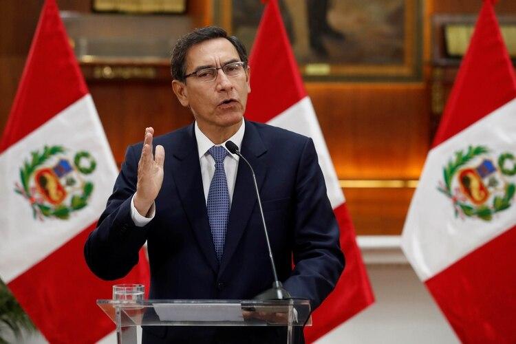 Martín Vizcarra, presidente de Perú, disolvió el Parlamento (EFE)