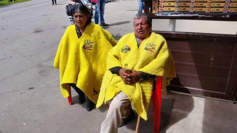 Luis Quintana, padre de Nairo Quintana apoyándolo desde Cómbita, Boyacá / (Hsbnoticias).
