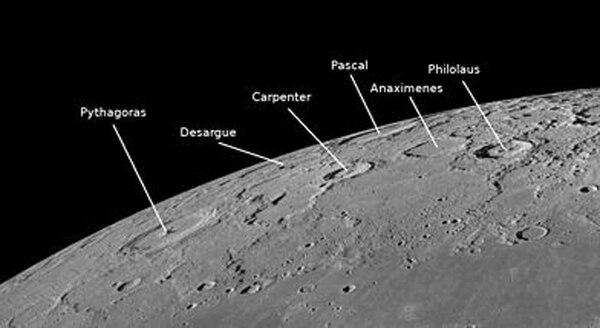 Los cráteres cerca de Philolaus, en la Luna