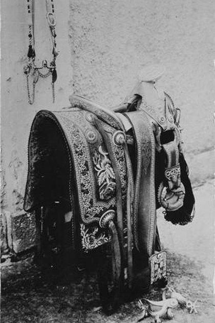 Silla de montar de Emiliano Zapata (Foto: AHUNAM)