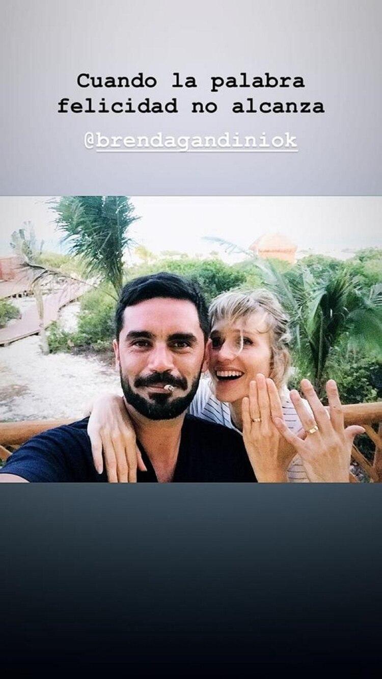 La foto que el actor había publicado junto a su pareja durante sus vacaciones en México