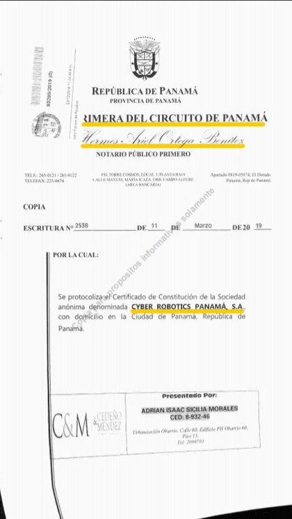 Filial panameña con prestanombres, liga: https://contralacorrupcion.mx/wp-content/uploads/2020/04/cyber-1.pdf