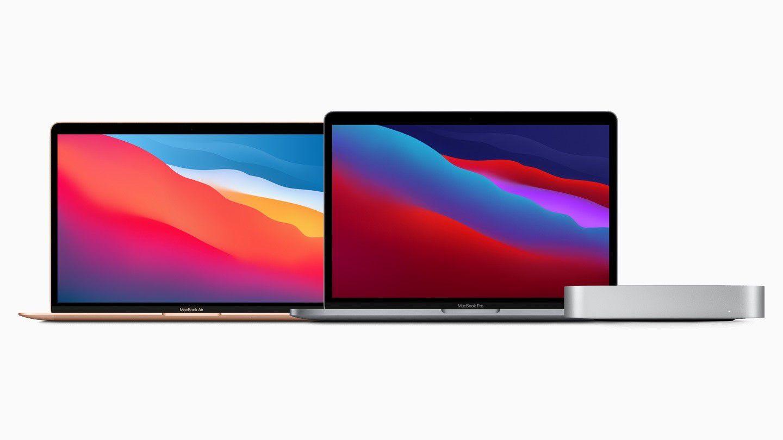 MacBook Air y Pro de 13 pulgadas y Mac Mini con chip Apple M1.
