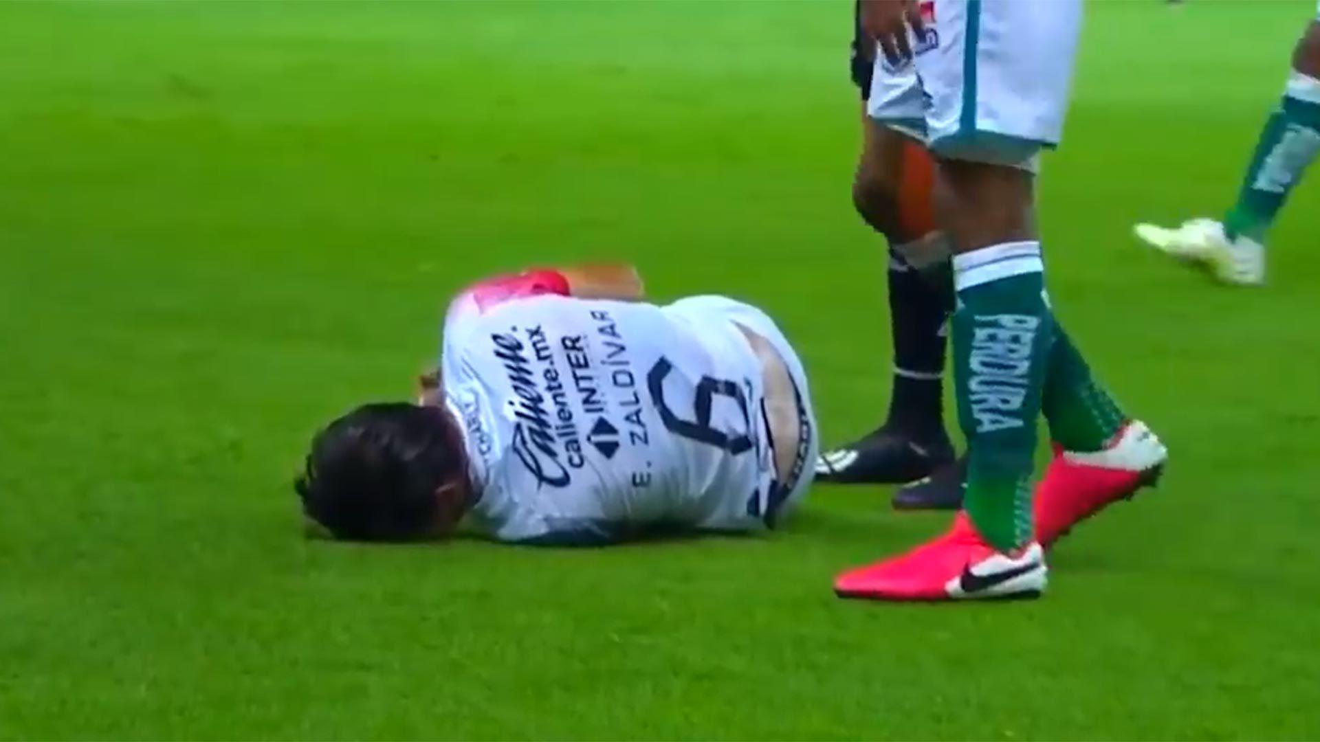 La lesión de Edgar Zalvidar jugador Atlas de México