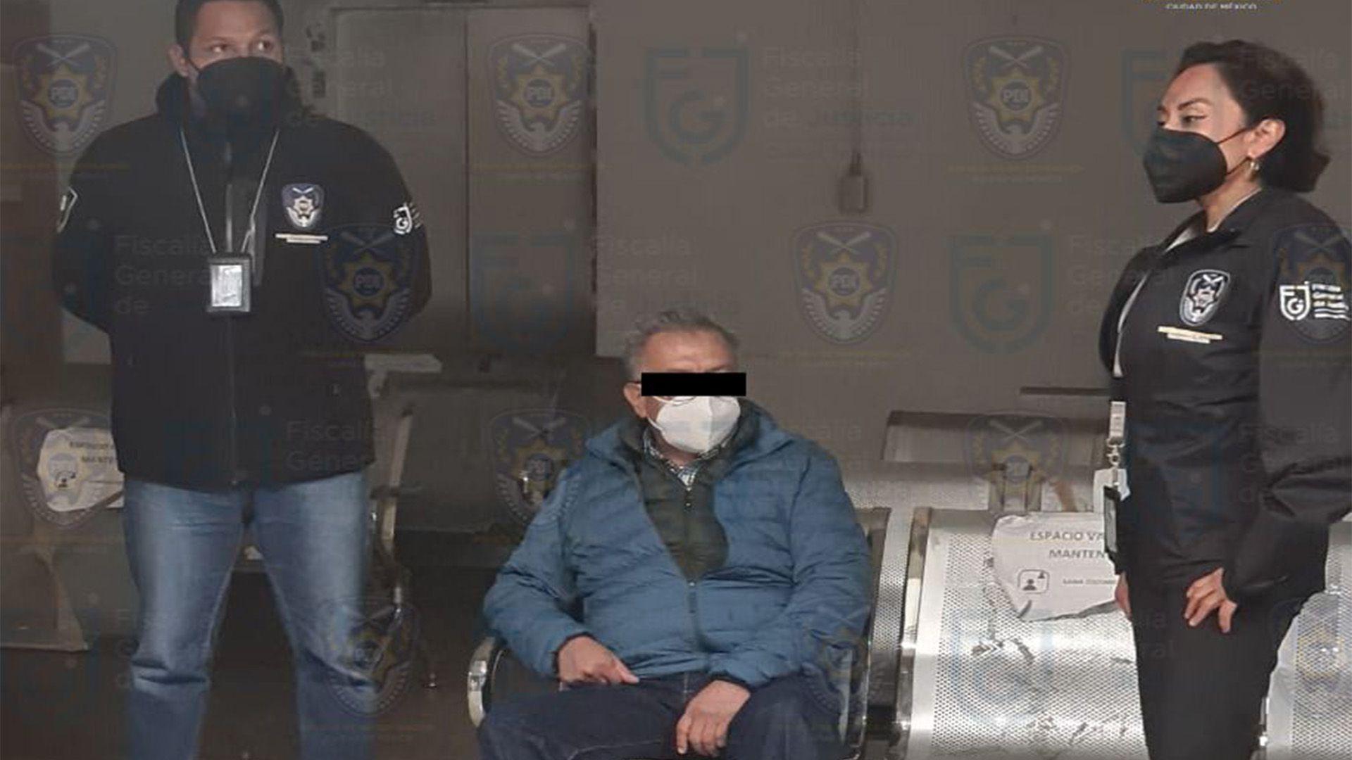 Saúl Huerta detenido (Foto FGJ CDMX)