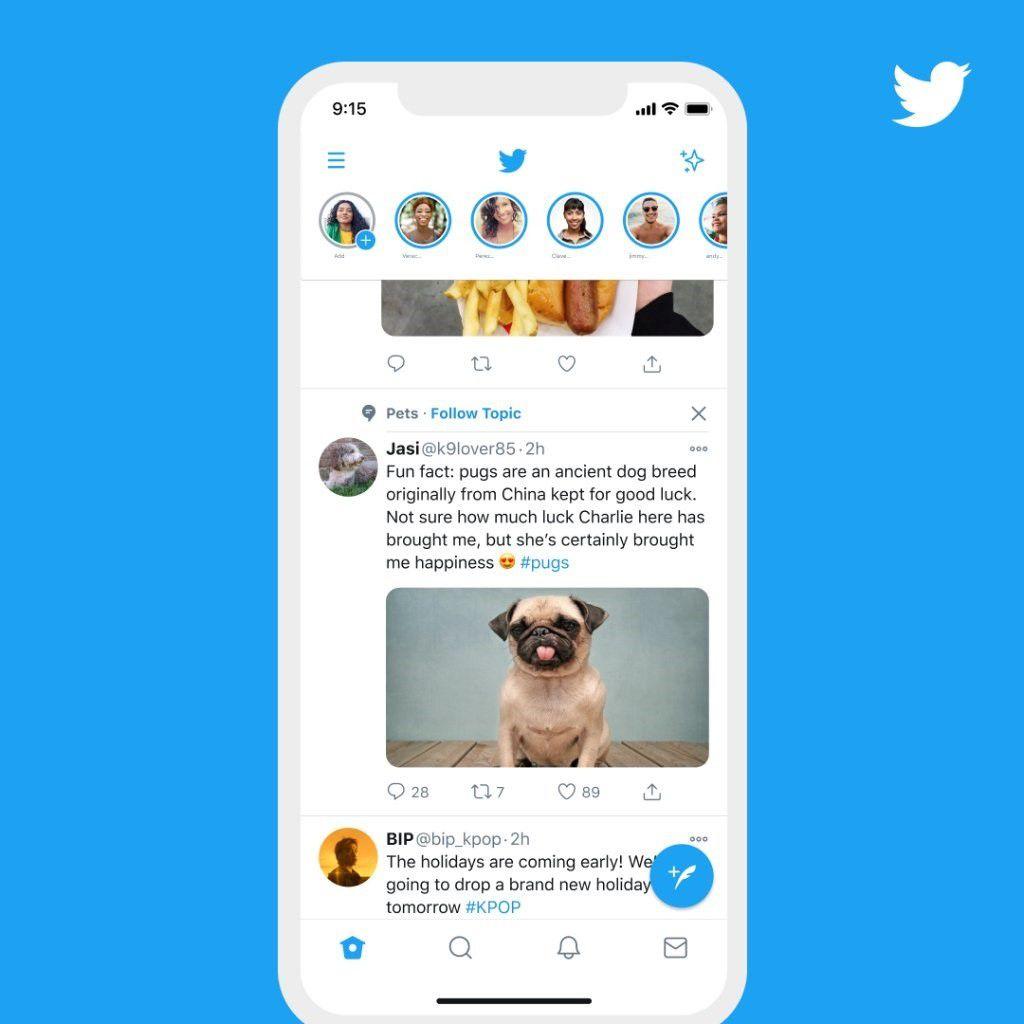 Twitter incorporará temas sugeridos en el timeline.