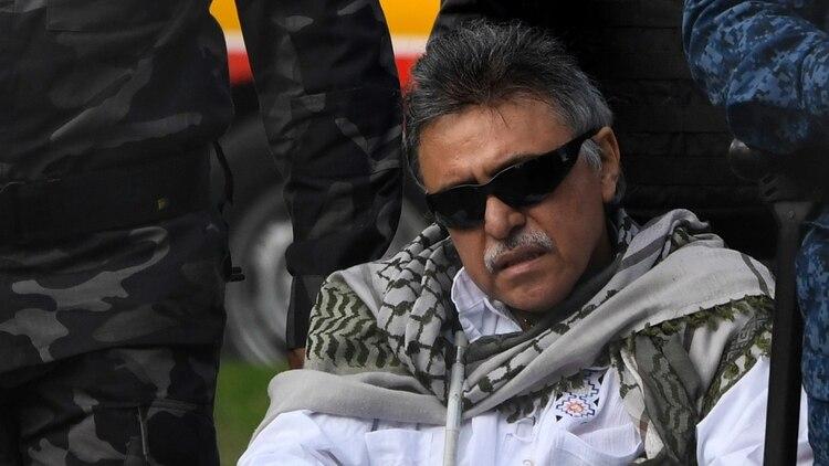 """""""Jesús Santrich"""" fue uno de los negociadores de las FARC en el acuerdo de paz en La Habana (AFP)"""