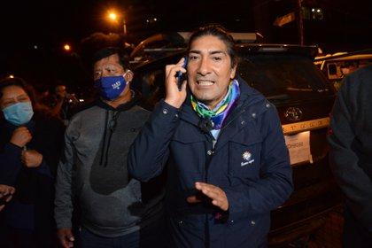 08/02/2021 El candidato presidencial del movimiento indígena Pachakutik, Yaku Pérez POLITICA SUDAMÉRICA ECUADOR FRANKLIN JACOME