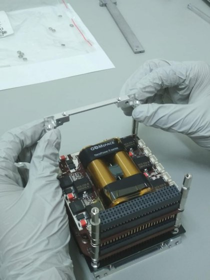 El satélite fue construido por universitarios de Puebla. (Foto: NASA)