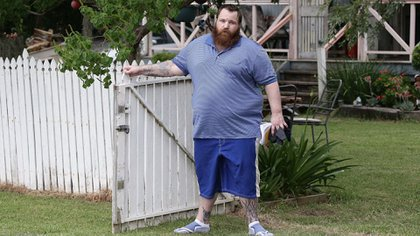 Davidson, en libertad, fue aclamado como héroe por algunos sectores (foto: Australia Daily Mail)