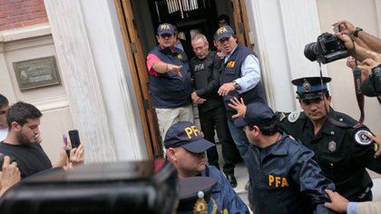 Ricardo Jaime está detenido desde abril de 2016 (foto Prensa PFA)
