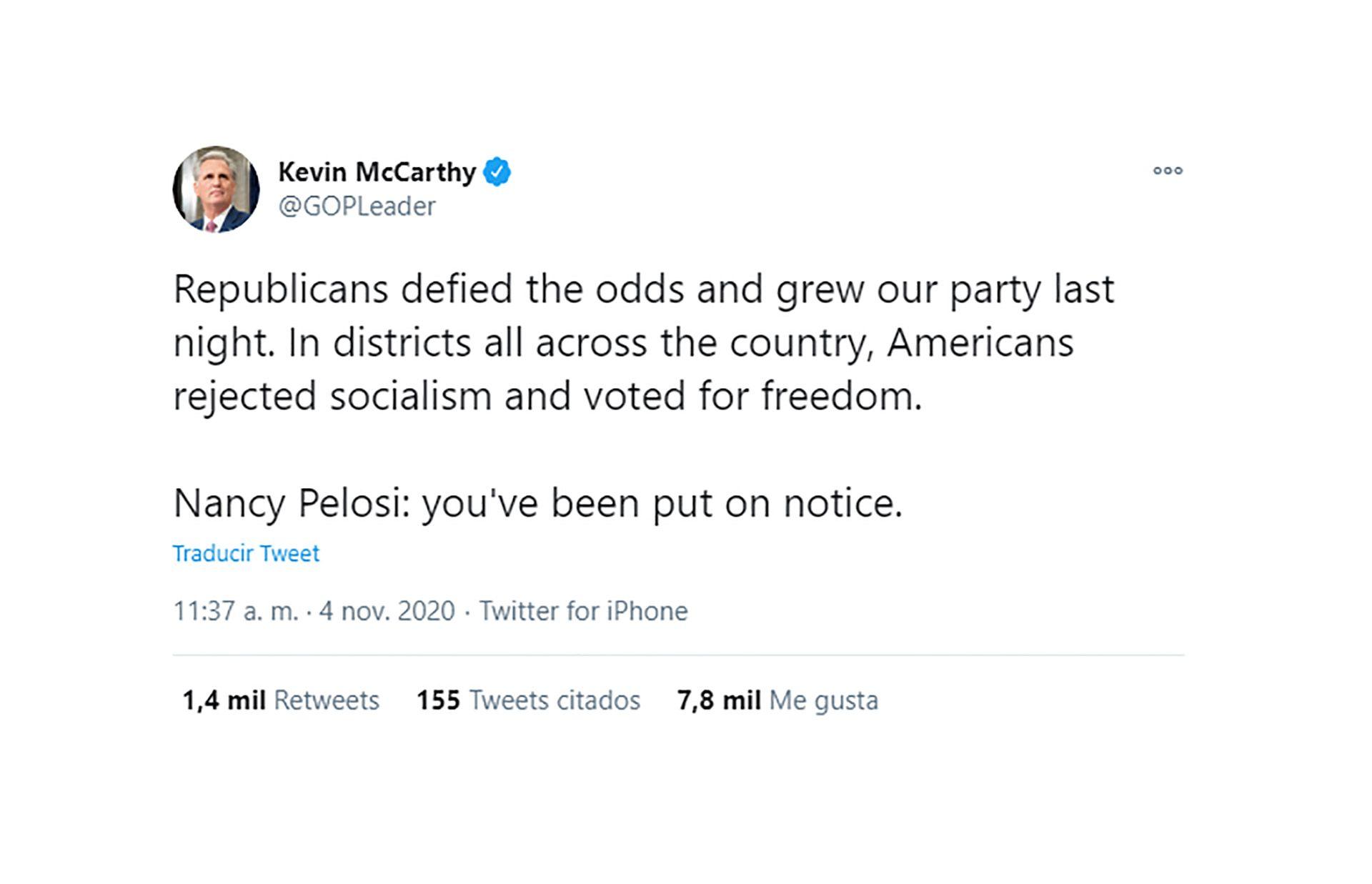 Kevin McCarthy tuit