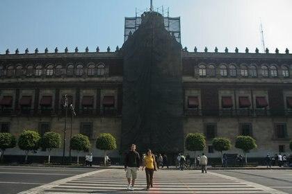 La fachada de la entrada principal del Palacio Nacional (Foto: Enrique Oróñez / Cuartoscuro)