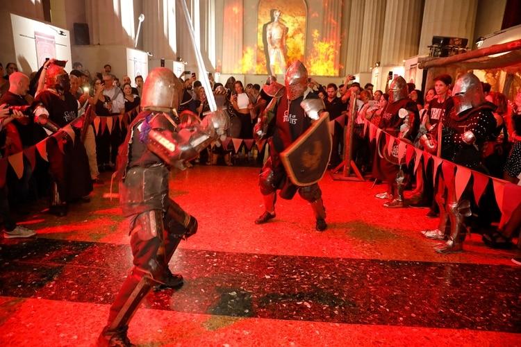 Exhibición de lucha medieval