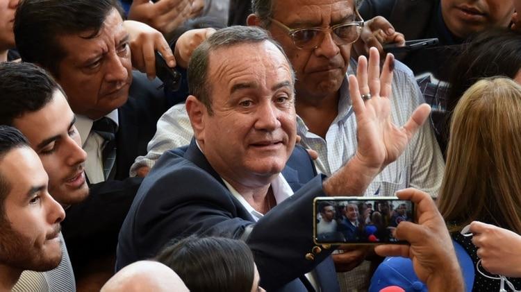 Alejandro Giammattei, presidente electo de Guatemala (Photo by ORLANDO ESTRADA / AFP)