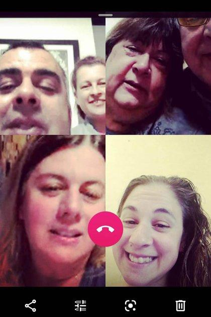 Cuando el drama aún no se había desatado en la familia Pérsico: el matrimonio y sus tres hijos se comunicaban a diario por videollamada