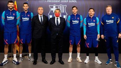 Cónclave entre Laporte, Messi y el resto de capitanes del Barcelona por la Superliga europea