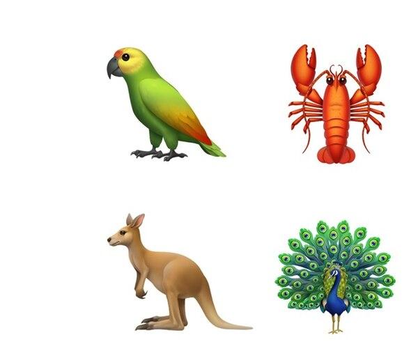 Apple algunos de los emojis que llegarán a sus dispositivos