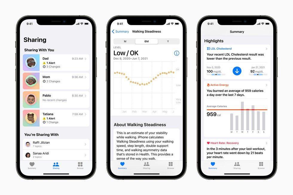 Apple anunció este lunes durante su evento de desarrolladores anual WWDC las nuevas funciones de privacidad y salud que llegarán a su ecosistema