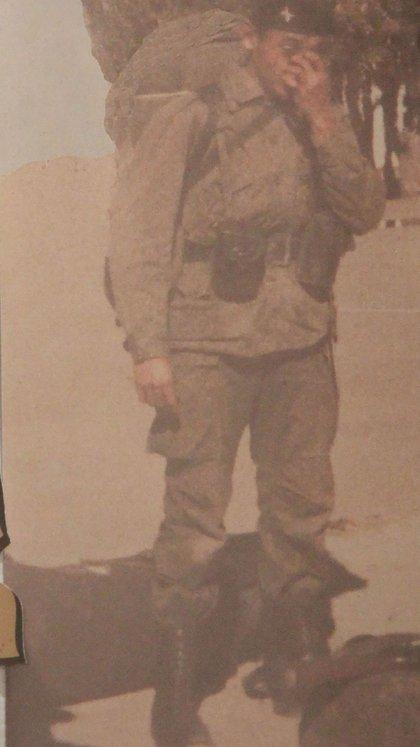 Ramón con su uniforme de combate