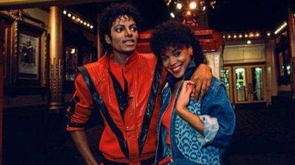 "Michael Jackson y Ola Ray en ""Thriller"""