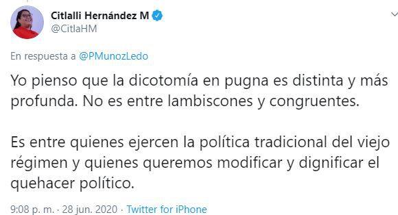 Prfirio Muñoz Ledo tuit