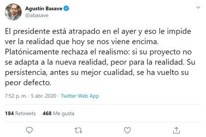 Agustín Basave (Foto: Twitter/ @abasave)