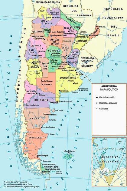 Con la Antártida incorporada al mapa, la Argentina pasa a ser un país bicontinental