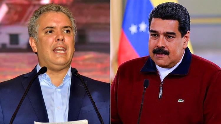 Iván Duque y Nicolás Maduro