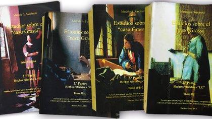 Los cuatro tomos escritos por el abogado Marcelo Sancinetti.