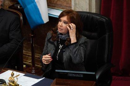Cristina Kirchner en el Senado (Foto: Franco Fafasuli)