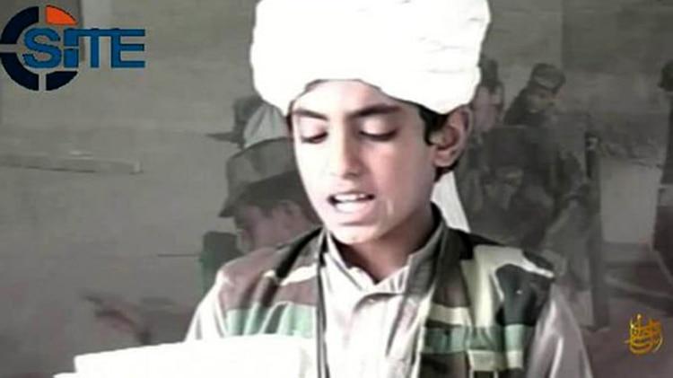 Hamza bin Laden de niño